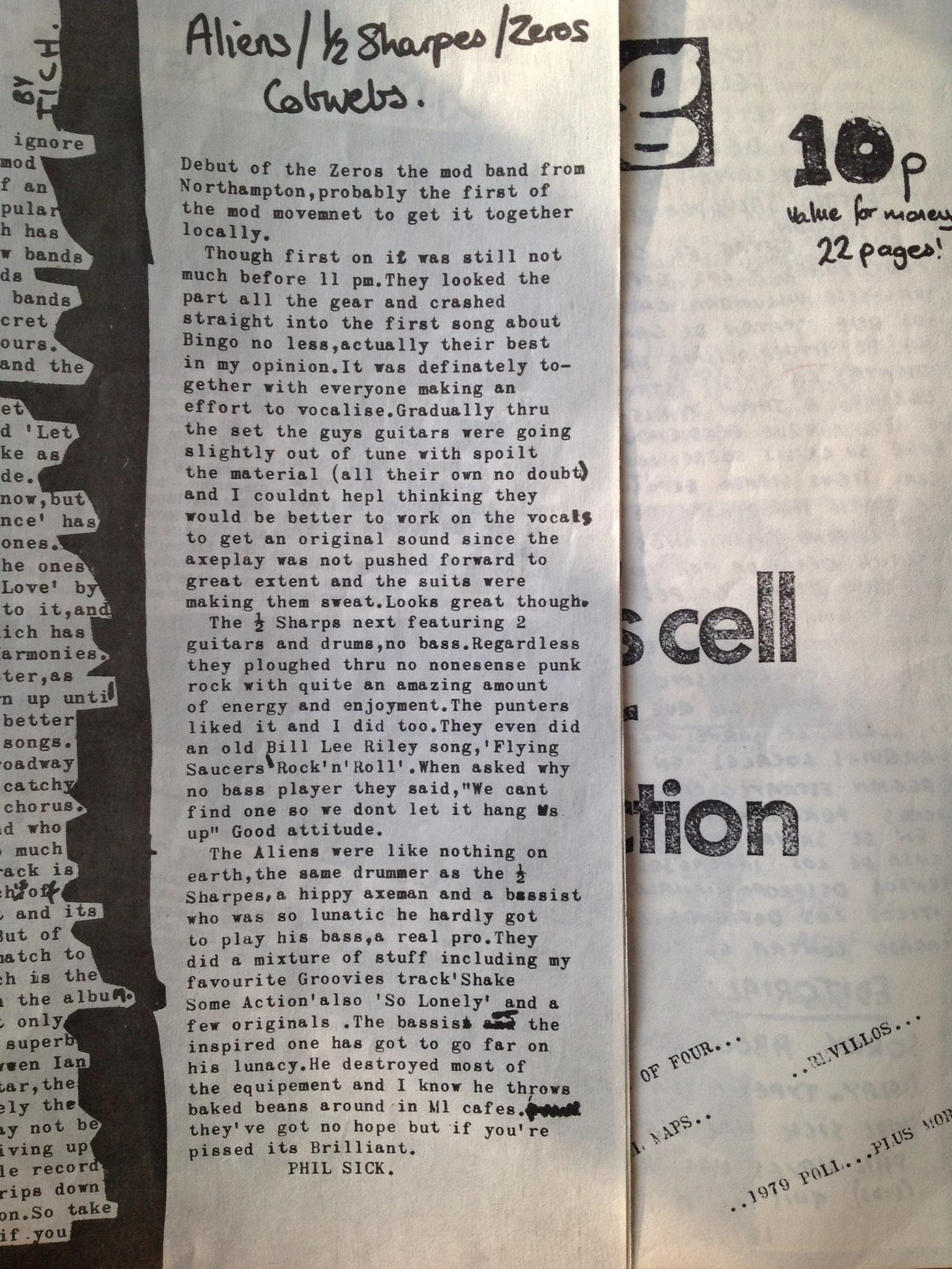 Burnt Offering Fanzine   A punk/new wave fanzine from 1979 ...